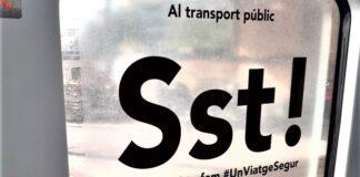 """Al transport públic, Sst"". Foto: ATM."
