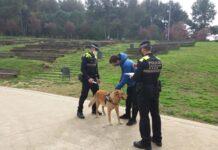 La Policía de Gavà en un control en el Parque del Mil·lenni. Foto: Ayuntamiento de Gavà.