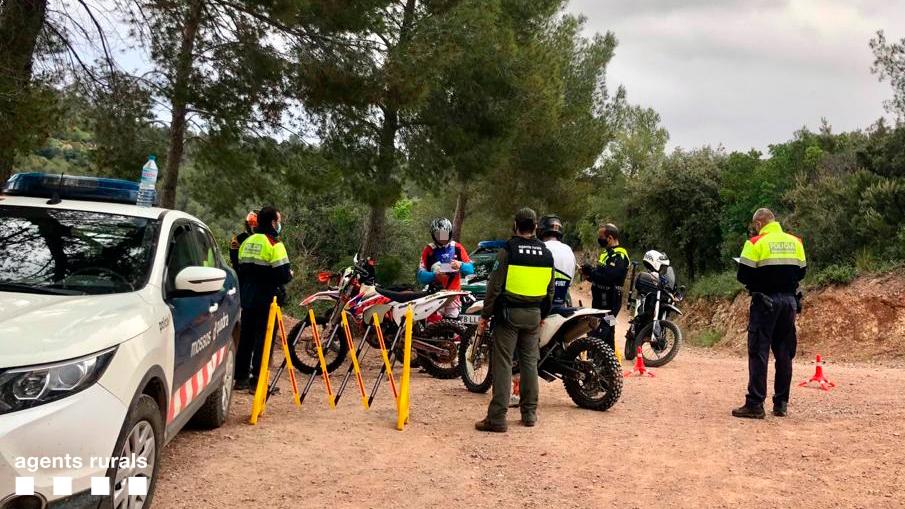 Control de acceso motorizado en Gavà. Foto: Agents Rurals.