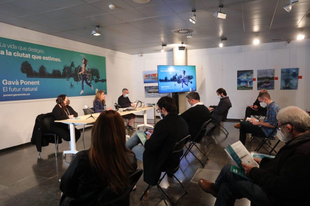 Rueda de prensa de Gavà Ponent. Foto: Ayuntamiento de Gavà.