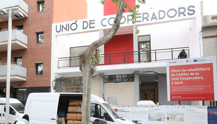 Obras en la Unión de Cooperadores de Gavà. Foto: Ayuntamiento de Gavà.