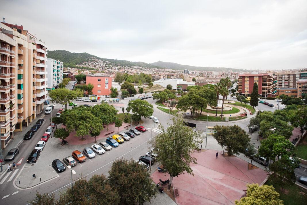 Avenida Joan XXIII junto a la plaza Catalunya.