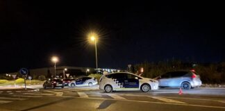 Control policial en la Avenida del Mar. Foto: Twitter @gebadia.