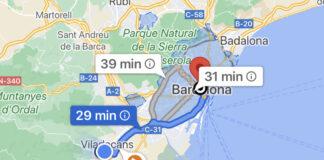 Área de la Zona de Bajas Emisiones en Google Maps.